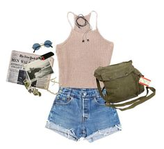 """""""droopy eyes"""" by kampow ❤ liked on Polyvore featuring Levi's, ...Lost, GAS Jeans, Diane Von Furstenberg, tumblr, pale, indie, grunge and aesthetic"""