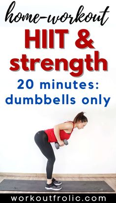 Sweaty HIIT & Strength Dumbbell workout for women