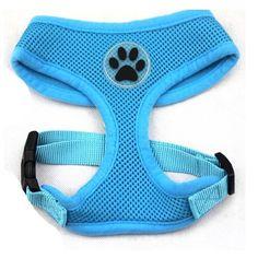 BINGPET BB5001 Soft Mesh Dog Puppy Pet Harness Adjustable - Blue - http://www.thepuppy.org/bingpet-bb5001-soft-mesh-dog-puppy-pet-harness-adjustable-blue/