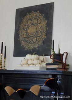 Learn how to stencil DIY boho chic wall art using the Prosperity Mandala Stencil from Cutting Edge Stencils. http://www.cuttingedgestencils.com/prosperity-mandala-stencil-yoga-mandala-stencils-designs.html