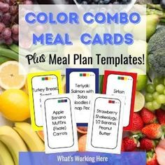To make meal planning with my meal plan templates even easier I've created Color Combo Meal Plan Cards. The cards have meal ideas on the front and a list of ingredients on the back. Weekly Menu Printable, Weekly Menu Template, Weekly Menu Planning, Meal Planning, Beachbody Meal Plan, 80 Day Obsession, Easy Meal Plans, Portion Control, Nutrition Program