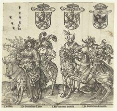 Ada, Willem I, Floris IV en Willem II, Jacob Cornelisz. van Oostsanen, 1518