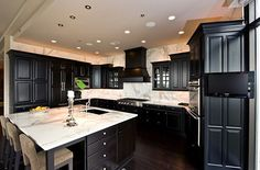 kitchens with dark hardwood floors pictures | Should Kitchen Cabinets Match The Hardwood Floors?