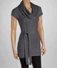 Charcoal Cap-Sleeve Sweater | Daily deals for moms, babies and kids