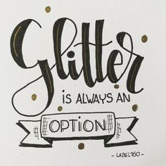 """Die Schrift von """"Glitter"""" passt perfekt zum Thema"""