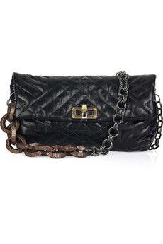Lanvin Happy Pop quilted leather shoulder bag | NET-A-PORTER