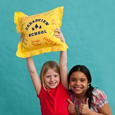 Autograph T-Shirt Pillow  Good Idea for last day of school