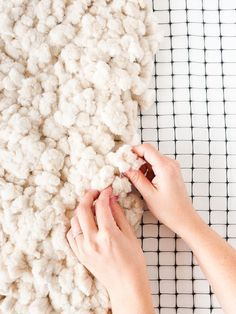 Make a DIY rug from scratch with this /discovercotton/ /refinery29/ tutorial. Click through for the step by step process. #ad #CottonDIY