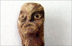 Villager dipped his fishing net in the river and caught a 4,000 year old pagan god