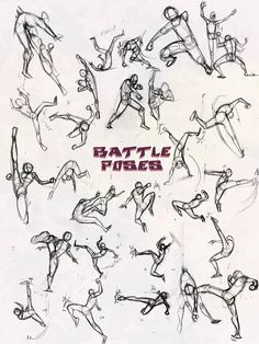 Battle Poses- Kick and Punch by NebulaInferno on deviantART