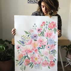 Yandi 🌸Florals For Freedom (@yandijester) • Watercolor flower painting