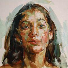 Paul Wright ~ Head of a Girl (oil)