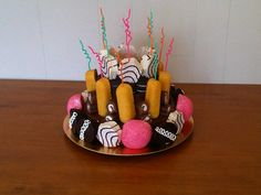 """""""Lil Debbie"""" birthday cake that I made for my roomie's White Trash themed party"""