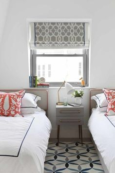 Notting Hill, mid-century refurbishment - Contemporary - Kitchen - london - by Amory Brown Grey Roman Blinds, Roman Shades, Trellis Design, Moroccan Design, Cool House Designs, Fashion Room, Contemporary Bedroom, Home Decor Trends, Decoration