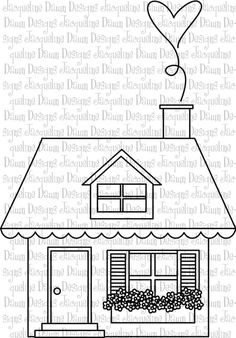 Digital Stamp  Home Sweet Home by paperaddictions on Etsy