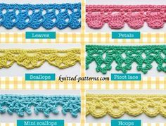 Crochet edgings and trims free patterns   knitted-patterns.com