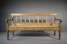 19TH CENTURY CUMBRIAN ANTIQUE PINE BENCH SEAT Bench With Storage, Storage Benches, Rustic Home Interiors, Bench Seat, Antique Photos, Outdoor Furniture, Outdoor Decor, Accent Pieces, Kitchen Dining