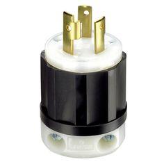 Leviton 30 Amp 3W, 2P Nema L6-30P Locking Plug (Light bulbs), Clear