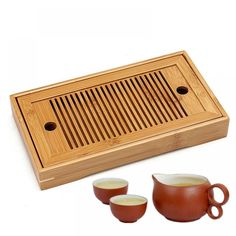 Buy Bamboo Tea Tray Chinese Tasteful Gongfu Tea Table Serving Tray For Home Garden Portable Bamboo Shop, Buy Bamboo, Plastic Free July, No Plastic, Premium Tea, Stainless Steel Bar, Tea Tray, No Waste, Party Accessories