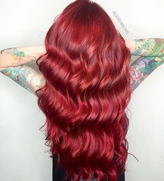 Goldwell Topchic 7rr Max red All over RR with a few internal highlites of VV