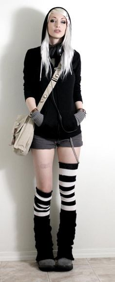 this is an awesome idea with the leg warmers over the thigh high socks
