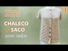 TUTORIAL chaleco y saco para mujer tejidos a crochet (1 de 3)