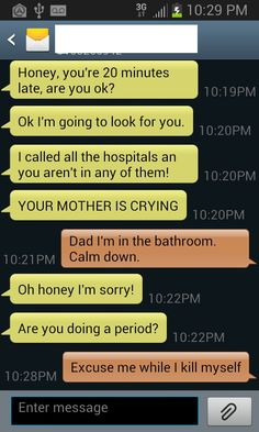 When Dads Text . . .