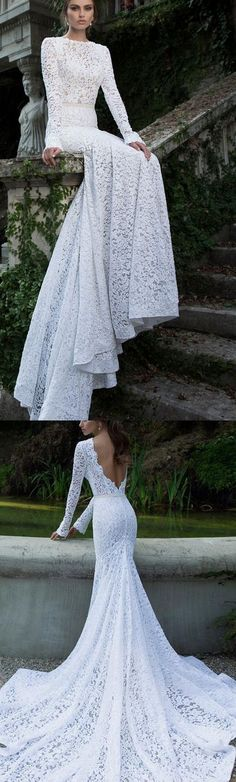 Custom Made Comfortable Long White Evening Prom Dress With Tulle Sweep Train, Backless Lace Dress 17189 #promdress #promgown #prom #dress #gown #longpartydress #charmingpromdress #elegantpromdress #FancyGown #lacepromdress #whitepromgown