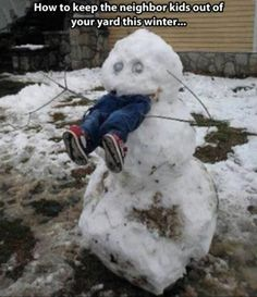 Humorous snowman