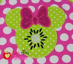 Kiwi Mouse Applique Design
