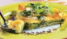 Broccoli and Cheese Crustless Quiche