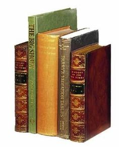 Set of 2 faux book bookends, large
