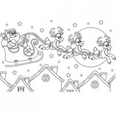 Christmas Eve Coloring Page - Free Christmas Recipes, Coloring Pages for Kids & Santa Letters - Free-N-Fun Christmas
