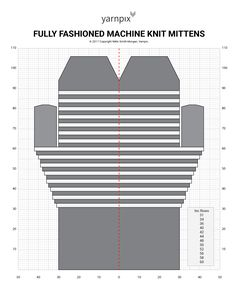 Fully Fashioned Machine Knit Mittens