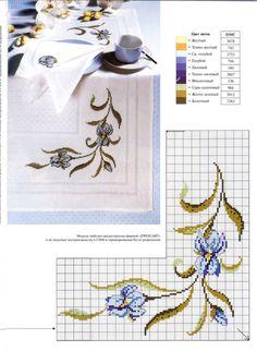 (1) Gallery.ru / Фото #3 - Мода и модель. Мозаика вышивки 2002-07 - tymannost Just Cross Stitch, Cross Stitch Bookmarks, Cross Stitch Borders, Cross Stitch Baby, Cross Stitch Flowers, Cross Stitch Charts, Cross Stitch Designs, Cross Stitching, Cross Stitch Patterns