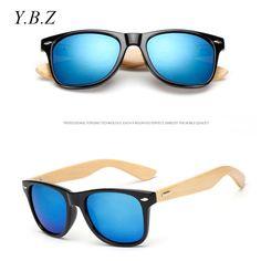 17 color Wood Sunglasses Men Women square bamboo sunglasses Designer Mirror  Sun Glasses for men women 4e07655391