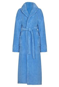 Long Tall Sally Women's Super Fluffy Robe Size Medium Powder Blue NEW House Coat #LongTallSally #Robes #Night