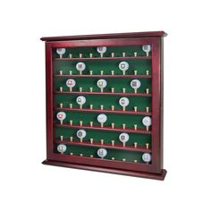 Club Champ 63-Golf Ball Display Cabinet, Multicolor