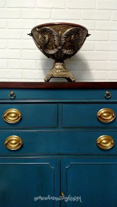 Painted Furniture, Aubusson Blue Chalk Paint, Painted Sideboard