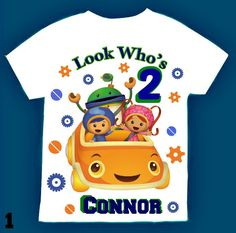Team Umizoomi Birthday Boy Shirt Personalized with child name and age. by FantasyKidsParty on Etsy https://www.etsy.com/listing/464542770/team-umizoomi-birthday-boy-shirt