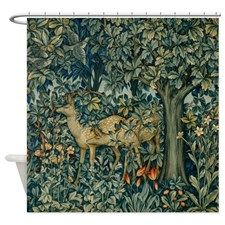 The Greenery Shower Curtain for