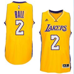 629fee893a46 Men s Los Angeles Lakers Lonzo Ball adidas Gold 2017 NBA Draft  2 Pick  Swingman home. Kobe Bryant ...