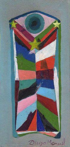 Astrapop 15, acrilico sobre tela, 13 x 25 cm. 2015. Painting by Diego Manuel