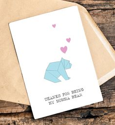 ___This listing___  A card for the best momma bear ever, on her birthday or mothers day or just for the heck of it!  - This listing is for one