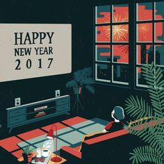 Happy New Year, 2017 💕🎉  .  .  #newyear#2017#illustration#artist#painting#drawing#art#일러스트레이션#새해#드로잉#아트