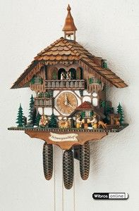 """This clock has been elected """"Black Forest clock of the year"""" in 2007. This is the most important award of the cuckoo clock industry in the Black Forest.Chalet Cuckoo Clocks Cuckoo Clock 8-day-movement Chalet-Style 60cm by Anton Schneider"""