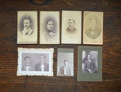 Antique Victorian pictures cabinet cards black and white photographs men and women portraits by MaAndPasAttic on Etsy