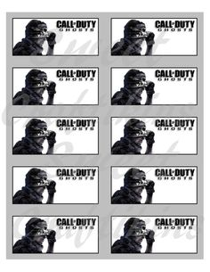 Call of Duty COD Ghosts Inspired - Food Cards/Table Tent Labels - Digital File - Perfect party item!