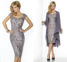 Mother of the Bride Dresses - Knee-Length Charmeuse Mother of the ...
