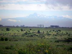 Mt Kenya from Nairobi National Park